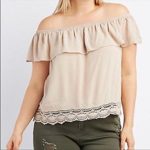Tops - Cute off the shoulder blouse